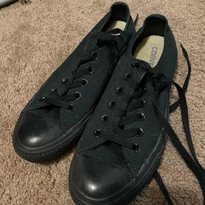All blacked out converse